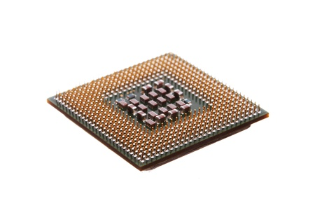 Computer engineering Microprocessor processor isolated on white background Stock Photo - 13095104
