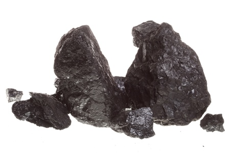 Piece coal isolated over white background
