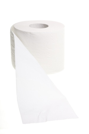 toilet paper isolated on white background photo