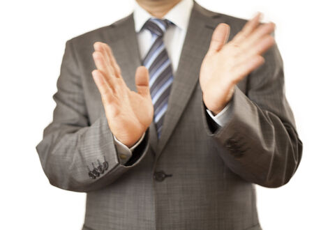 acclamation: applause to your success Stock Photo