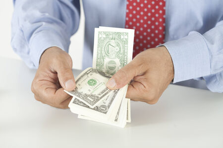 bugs shopping: money counting Stock Photo