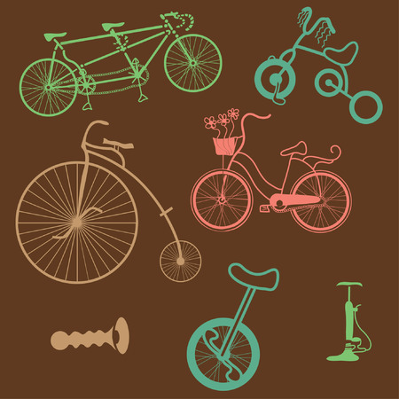 pedals: bicycles