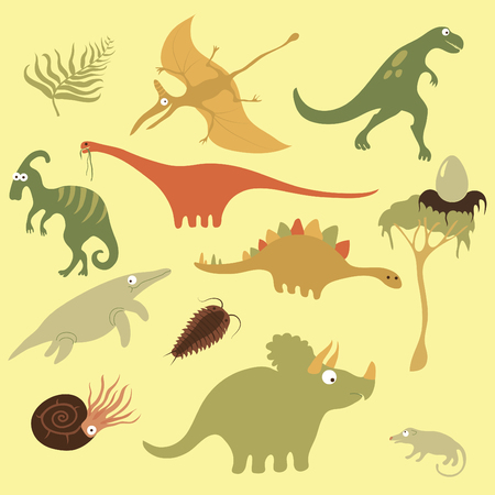 natural selection: dinosaurs illustrations Illustration