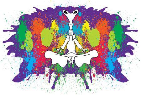 Meditating alien