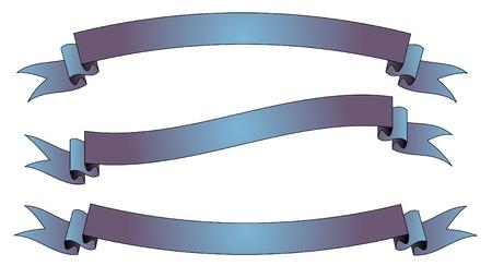Purple-blue ribbons