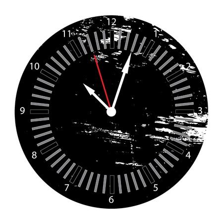 Grunge Clock Vector