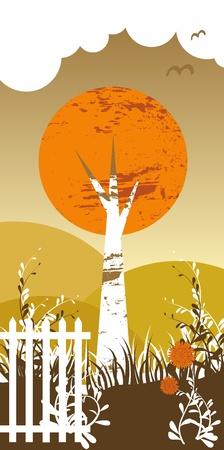 Birch tree Illustration