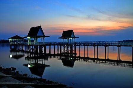 pavillion: Sunset at Bueng See Fai, Phichit, Thailand