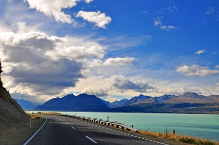 Lake Pukaki, New Zealand photo