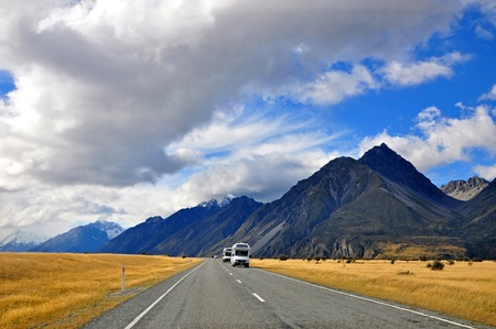 Road to mount cook photo