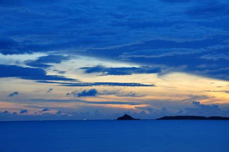 Sunrise at Bophut Beach, Samui Island, THAILAND photo