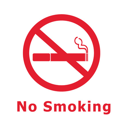 red sign: No Smoking Sign red