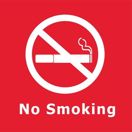 red sign: No Smoking Sign red background