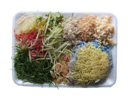 Rice and herb salad is Thai food.