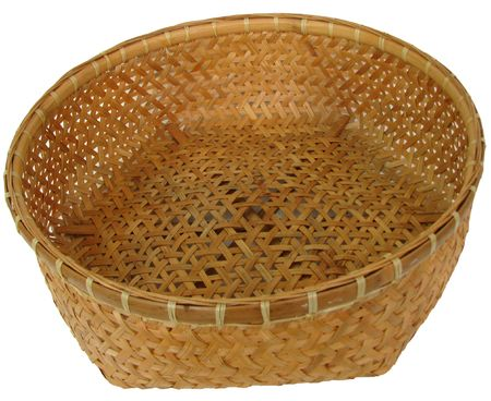 Basket bamboo is hand made of Thailand.
