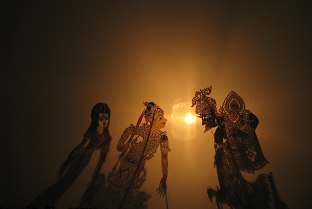 Shadow play is culture at the south of Thailand