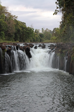 Tad Pha Suam Waterfall in Utayan Bajang, Champasak Province, Southern of Laos Stock Photo - 8833782