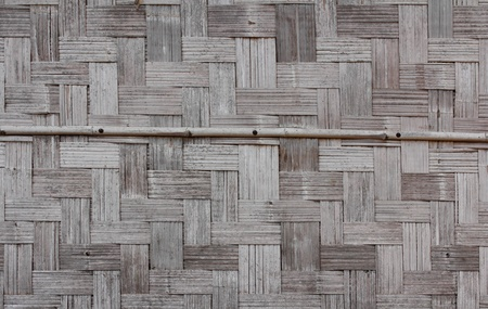 Bamboo wall of Laos house made from pieces of bamboo wood and arranged in Asian traditional pattern Stock Photo - 9044595