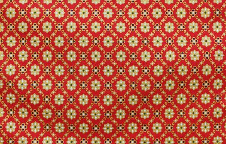 Vintage traditionnal Thai handmade fabric texture background photo