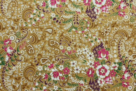 Vintage traditionnal Thai handmade fabric texture background Stock Photo