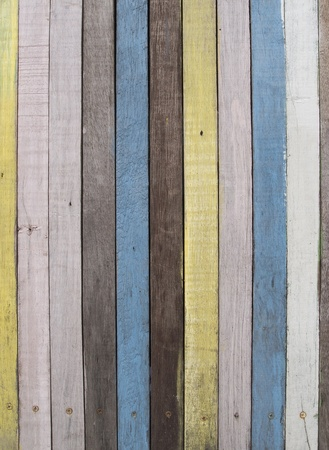 Stripes colorful of the wooden wall of a bar Stock Photo