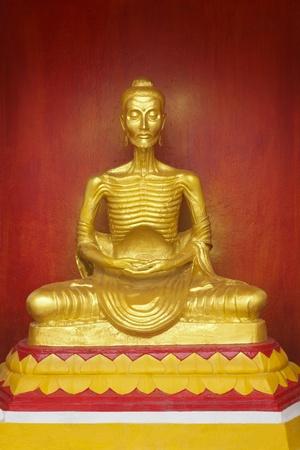 Image of Buddha statue of starving symbol at Nakhon Si Thammarat, Thailand Stock Photo