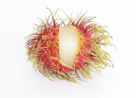 Rambutan fruit isolated on white background Stock Photo - 10218529