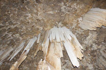 wang: Stalactites in Kow Wang Tong Cave, Nakhon Si Thammarat, Thailand