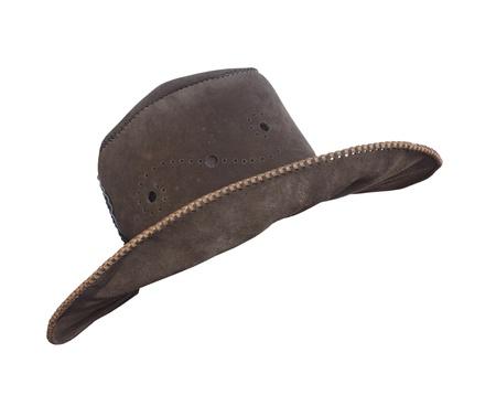 cappello cowboy: Cappello da cowboy marrone isolato su sfondo bianco