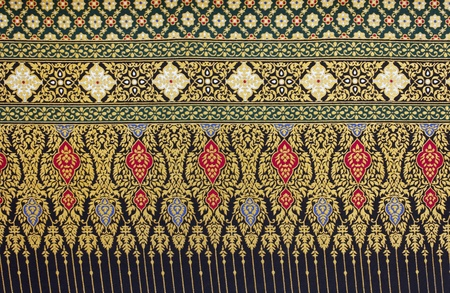Background of fabric cotton material with a traditional Thai pattern Stock Photo - 11676887