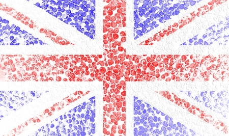 Grunge flag of England  photo