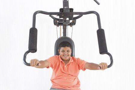 thai boy: Thai boy lifting weights