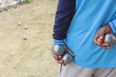 boules: Boules (Petanque), French ball game Stock Photo