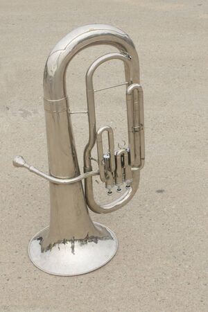 Brass Musical Instruments on a road photo