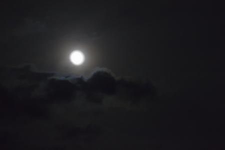 Full Moon in Cloud
