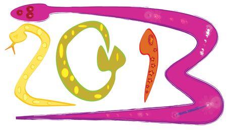 illustration of cartoon snake 2013 Stock Vector - 16385602