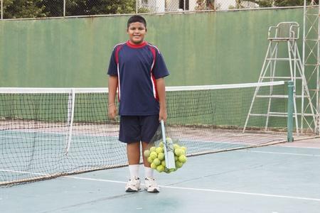 thai boy: Thai boy with tennis balls