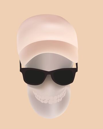 Vector illustration of human skull Vector