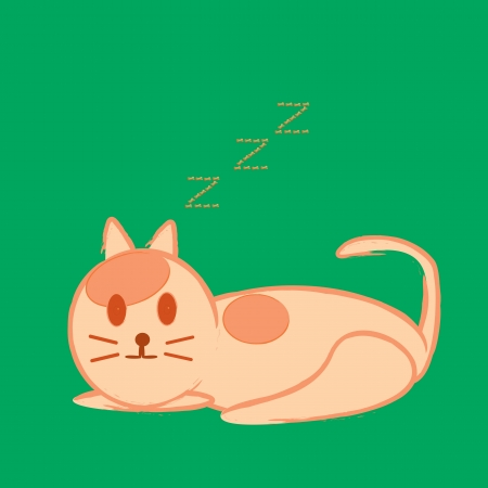 Vector illustration of cat sleep Stock Vector - 16641400