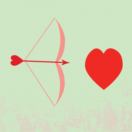 Vector simple abstract icons of bow and heart Stock Vector - 17106111