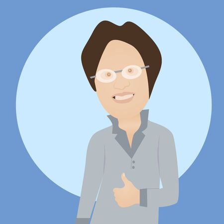 Human man with thumb up gesture Vector