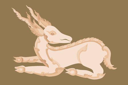 illustration of Thai art deer Stock Vector - 18822146