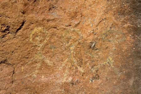 cave painting: Mirada Pintura rupestre como las personas en Tailandia Foto de archivo