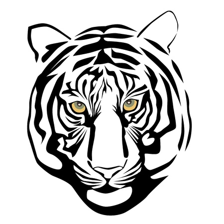 Vector illustration of tiger head Vector