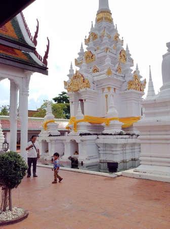 thai people: Thai people travel temple Stock Photo