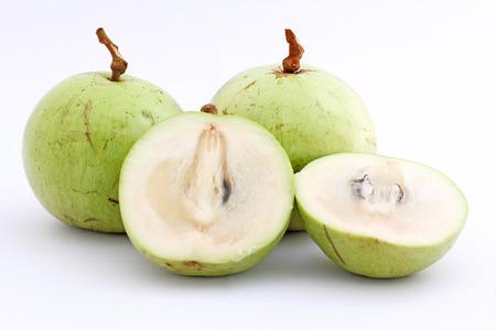 Star Apple or Chrysophyllum cainito fruits isolated on white background