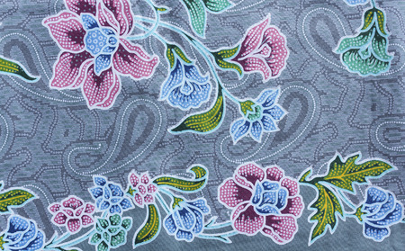 Closeup background pattern texture of general traditional Thai style native handmade batik fabric weave photo