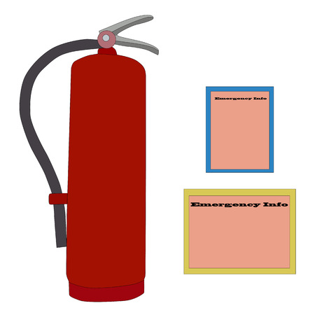 flammability: illustration of fire extinguisher