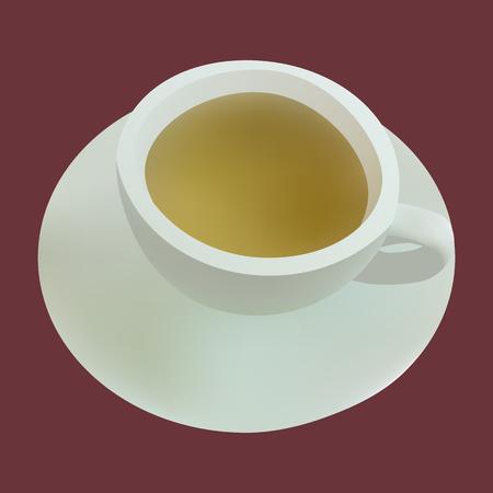 illustration cup of green tea Vector