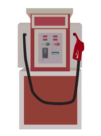 benzene: illustration of gasoline vending machine Illustration